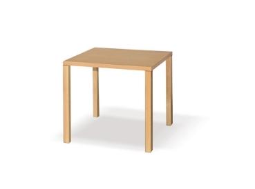 Holztisch Serie QADI, quadratische Tischbeine